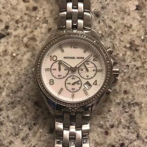 Michael Kors stainless steel large faced watch